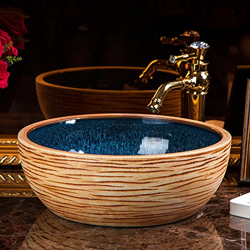 Badezimmer-Waschbecken-Kunst-Schiff-Waschbecken-Waschbecken-aus-Keramik-Kunst-Hotel-Badezimmer-Waschtisch-Waschbecken-chinesische-Tisch-Waschbecken-4115cm