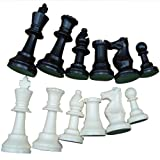 International Tournament Chess Set Plastic Chess Game White & Black 32 Pieces in Total(Medium 64mm) (Tamaño: Medium 64mm)