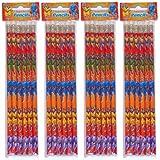 Lot de 12 crayons à papier avec gomme Super-héros
