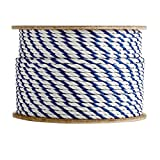 SGT KNOTS Twisted Polypropylene Pool Rope (1/4 inch) 3-Strand Polypro Cord - Lightweight Utility Rope - for Landlines, Safety Lines, Pool Lanes, Other Water-Bound Uses (600 feet - Blue & White) (Color: Blue / White, Tamaño: 1/4 inch x 600 feet)