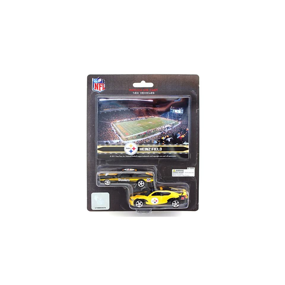NFL Pittsburgh Steelers Ford Mustang and Dodge Charger 164 Scale Diecast Cars