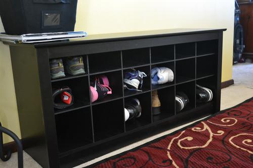 Amazon Com Prepac Shoe Storage Cubbie Bench Black