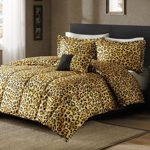 New Bed Bag King Queen Full Twin Xl 3 Pc Cheetah Animal Print Comforter Set Nip front-928695