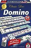 Schmidt Spiele 49207 - Classic Line: Domino mit großen Spielsteinen