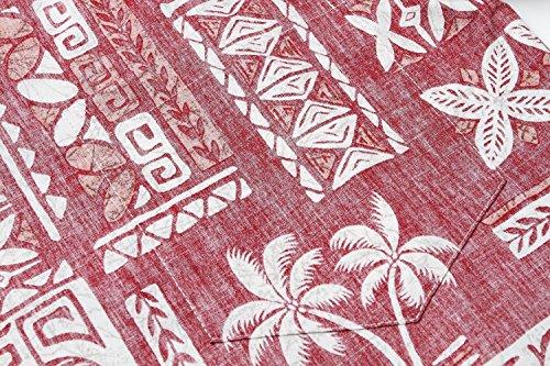 Made in Hawaii Men's Hawaiian Shirt Aloha Shirt Stonewash Vintage Look Classic Red 2