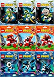 Lego - Mixels - Full set of series 4 - The Orbitons, The Infernites and the Glowkies - All 9 figures