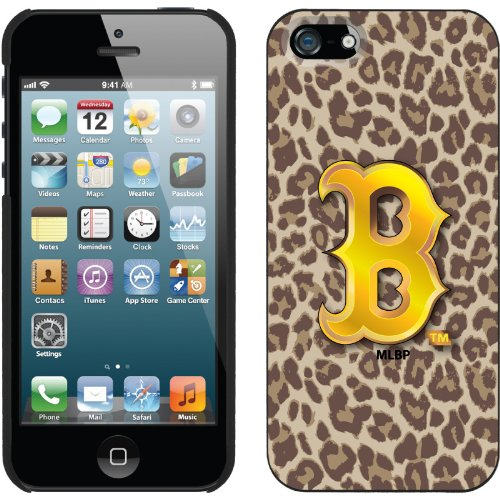 Great Price Boston Red Sox - Leopard Print design on a Black iPhone 5s / 5 Thinshield Snap-On Case by Coveroo