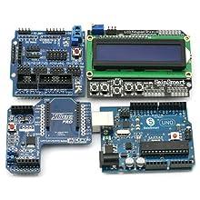 SainSmart UNO + SainSmart LCD Keypad Shield + SainSmart XBee Shield + SainSmart Sensor Shield V5 for Arduino UNO MEGA Duemilanove
