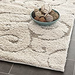 Safavieh Florida Shag Collection SG455-1113 Cream and Beige Runner, 2 feet 3 inches by 10 feet (2\'3\