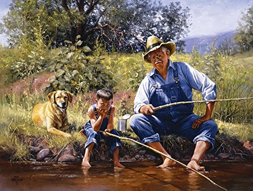 Fishing with Grandpa a 300-Piece Jigsaw Puzzle by Sunsout Inc.