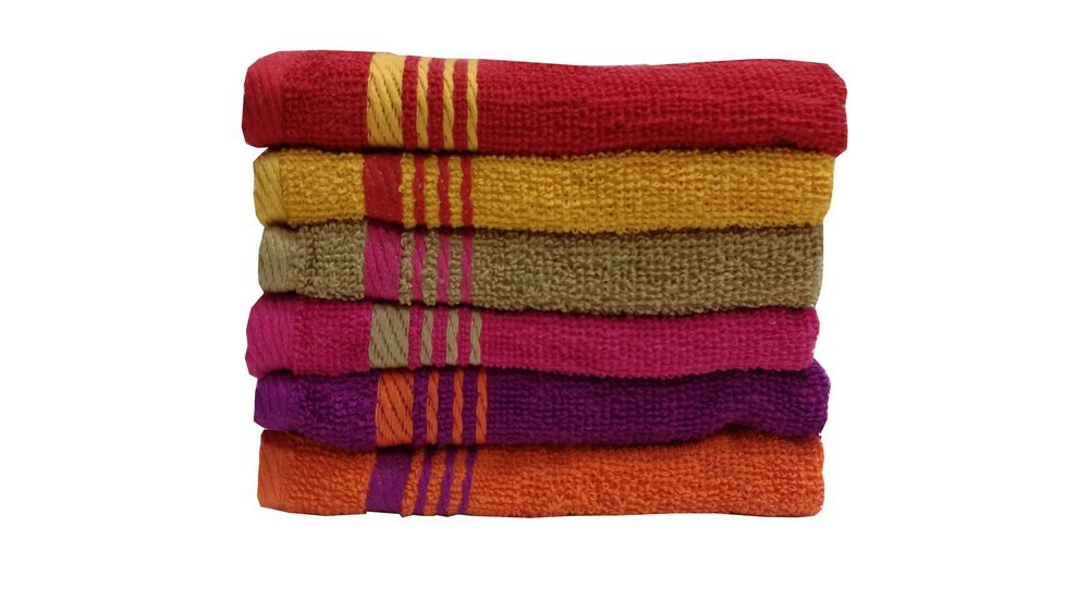 Welhome Home Essential 400 GSM Cotton 6 Pc Face Towel Set – Multicolour low price