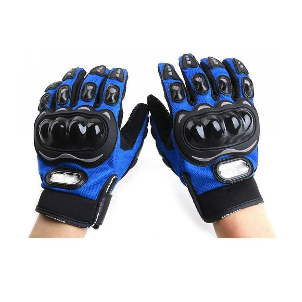 Buy leather motorcycle gloves - Probiker Leather Motorcycle Gloves Blue L Amazon In Car Motorbike