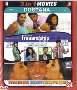 Dostana / Mujhse Fraaandship Karoge / Mujhse Dosti Karoge!(3 in 1 - 100% Orginal DVD Without Subtittle)