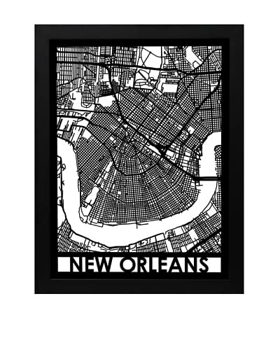 Cut Maps New Orleans Framed 3-D Street Map