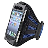 eForCity Deluxe Armband for iPod touch 2G/3G (Black/Dark Blue)