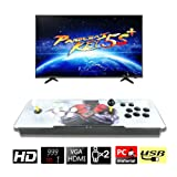 CLIENSY Arcade Video Game Console, 999 in 1 Pandora's Box 5S 1280x720 HD Double Joystick 2 Players Retro Games Arcade System, Support HDMI VGA Ouput (Color: 999 in 1 White?black)