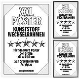 Posterrahmen Wechselrahmen Bilderrahmen Kunststoff Wechsel-Rahmen für Maxi Poster & Plakate