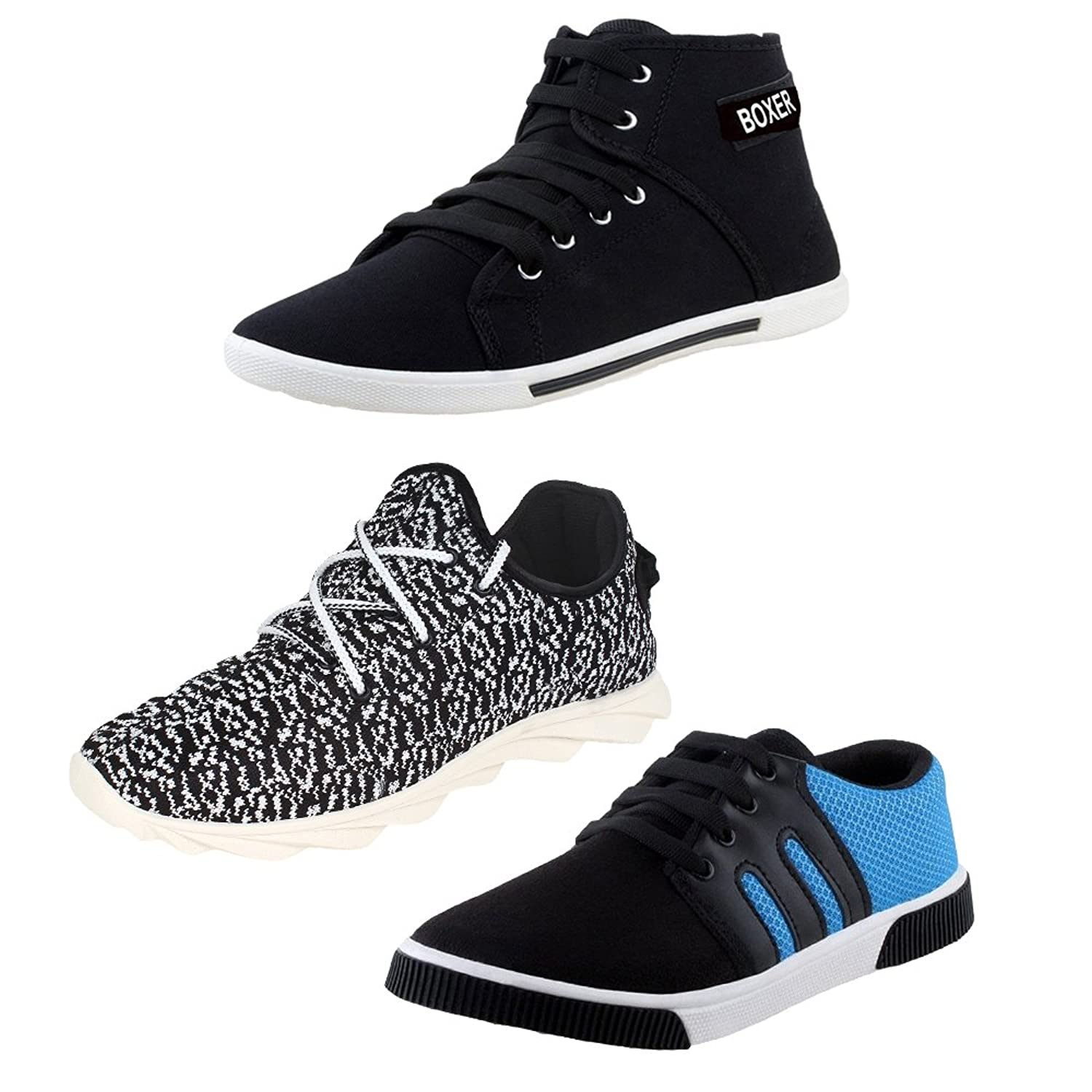 4e1ef15bb4bd9 Earton Men Canvas Combo Pack of 3 Casual Shoes (Sneakers) on Amazon Rs 5989