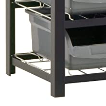 """Sandusky Lee UR4416BIN36 Black Zinc Steel Bin Shelving Unit with 36 Storage Bin, 57"""" Height x 44"""" Width x 16"""" Depth"""