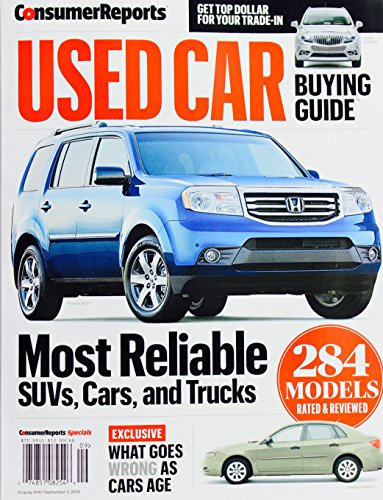 Consumer Reports Used Car Buying Guide, September 2016