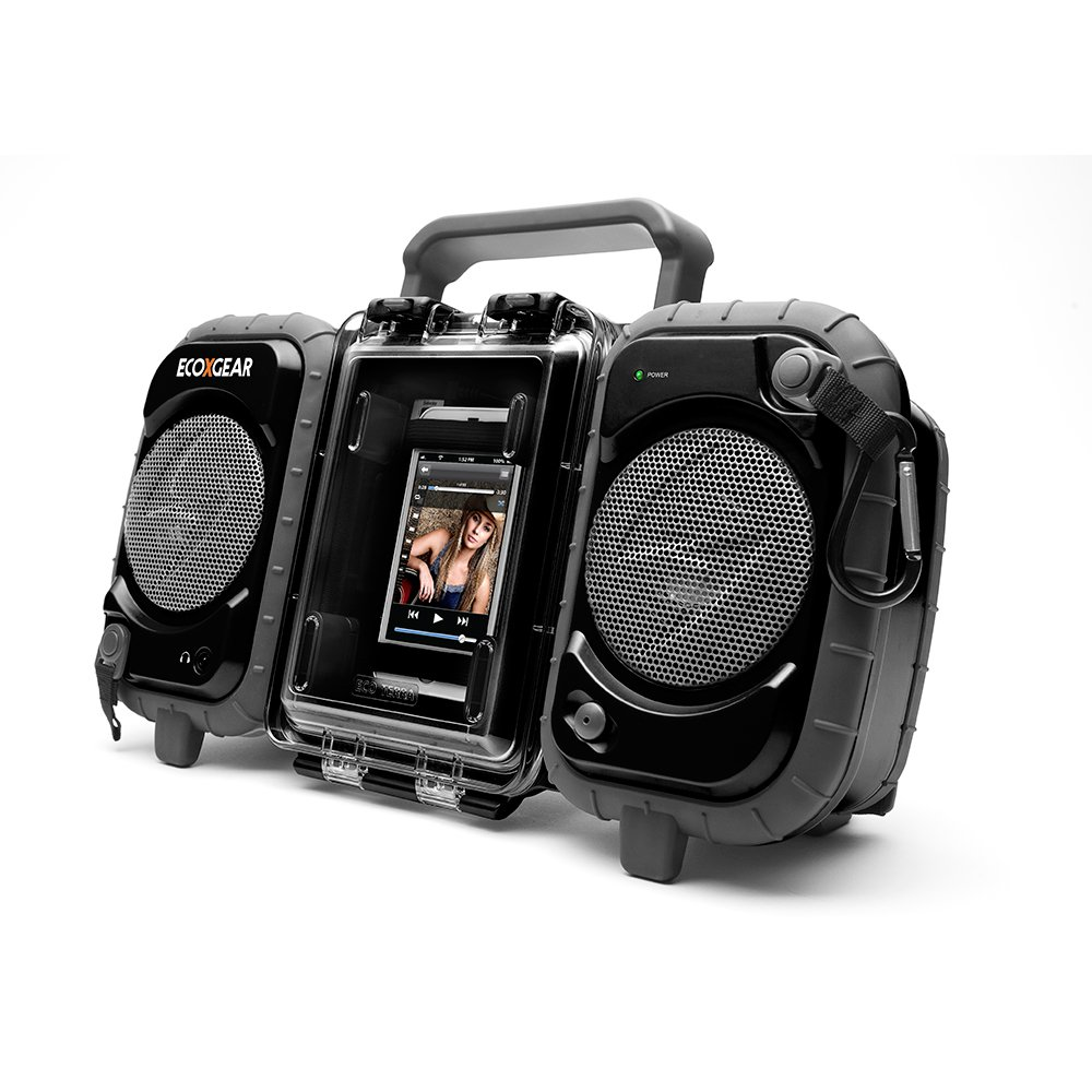 Ecoxgear Rugged And Waterproof Stereo Boombox Gdi Aq2si60