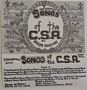 Bobby Horton - Homespun Songs Of The C.S.A. Volume 4