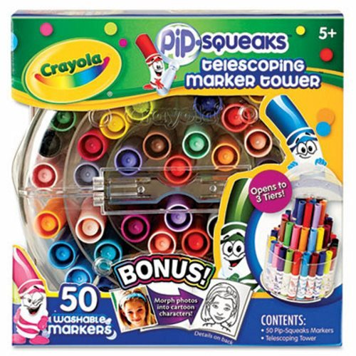 KITCYO588750PAC103637 - Value Kit - Crayola Pip-Squeaks Telescoping Marker Tower (CYO588750) and Pacon Riverside Construction Paper (PAC103637) kitmmmc60stpac103637 value kit scotch value desktop tape dispenser mmmc60st and pacon riverside construction paper pac103637