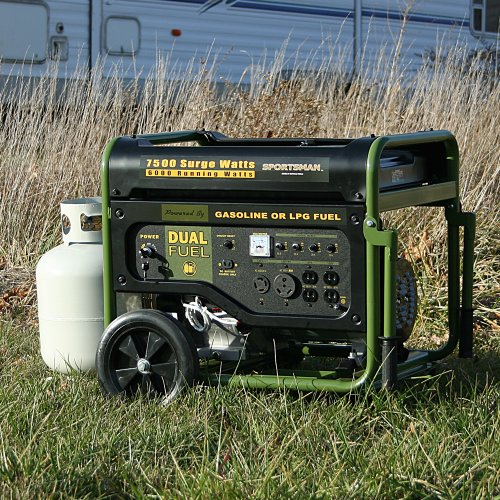 Sportsman GEN7500DF 7,500 Watt 13 HP 389cc OVH 4-Stroke Gas/Propane Powered Portable Generator With Electric Start Sportsman Series B00GX9K8A4