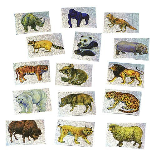 Wild Animal Prism Stickers