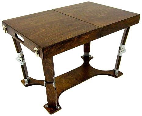Spiderlegs Folding Coffee Table, 28-Inch, Dark Walnut