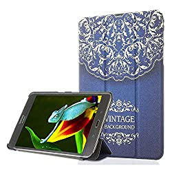 ProElite Samsung Galaxy Tab S2 9.7 Smart Shell Case - Designer Flip Case Cover with Auto Sleep/Wake Feature for Samsung Galaxy Tab S2 Tablet (9.7 Wi-Fi SM-T810 / LTE SM-T815) [Design - Vintage]