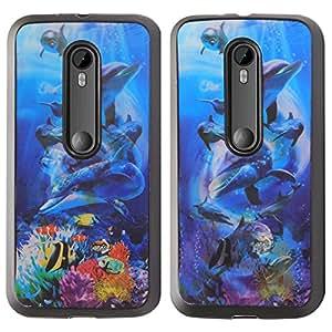 DMG Premium 3D TPU Protective Back Cover Case for Motorola Moto G 3rd Gen 2015 Edition XT1540 (Dolphin)