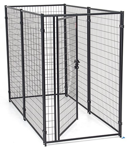 Dog Kennel Gray- Lucky Dog Modular Box Kennel - This Welded Animal Enclosure is Perfect for Small to Large Dogs and Animals and is Designed with Their Safety and Comfort In Mind. Dimensions (6'H x 8'L x 4'W); 103 lbs (Dog Modular Cage compare prices)