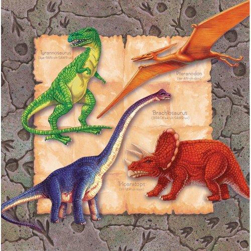 Dinosaur - 13 Inch Luncheon Napkin - 16/pkg. - 1