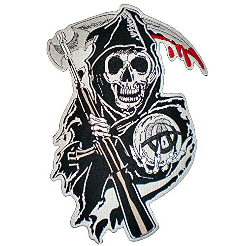 SOA Bloody Biker Iron on Back Patch