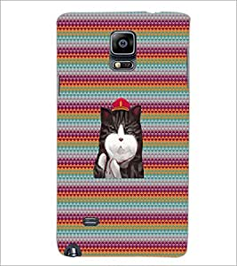 PrintDhaba Kitty D-3310 Back Case Cover for SAMSUNG GALAXY NOTE 2 (Multi-Coloured)