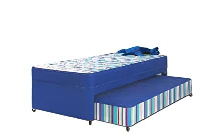Airsprung Billy Guest Bed, Fabric, Blue, 2-Piece