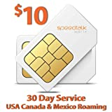 $10 SIM Card for GPS Tracking Pet Senior Kid Child Car Smart Watch Devices Locators - 30 Day Wireless Service - USA Canada & Mexico Roaming