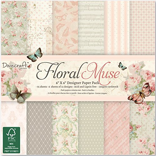 trimcraft-dovecraft-paper-pack-6-inch-x-6-inch-72-pkg-floral-muse-other-multicoloured