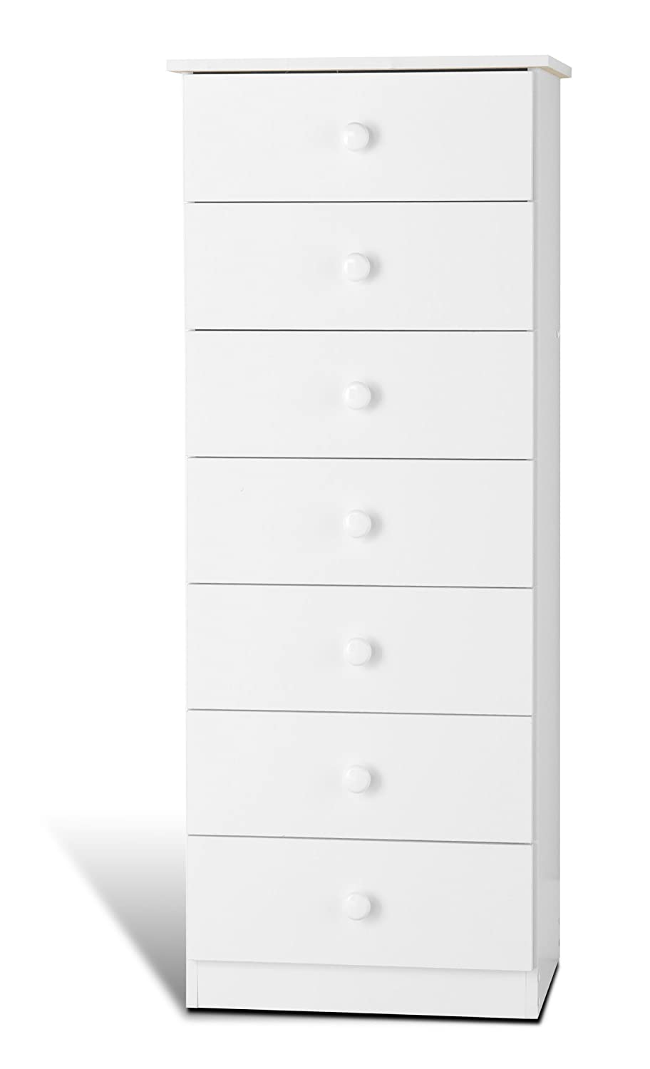 prepac 7 drawer lingerie chest in white whd 2050 7 20 w x