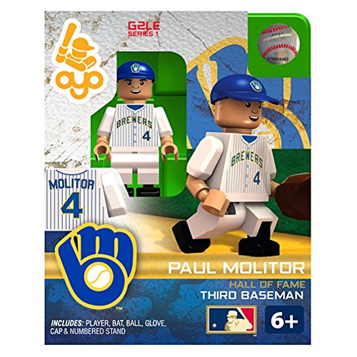 Paul Molitor MLB Milwaukee Brewers G2S1 Hall of Fame Mini Figure OYO