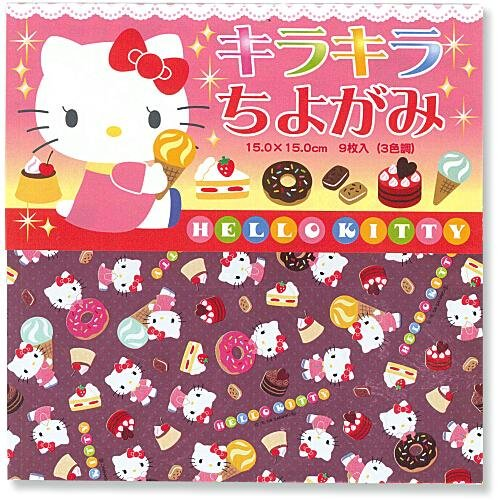 Licensed Hello Kitty Chiyogami - 6 Inch, 10 Sheets, 2 Designs