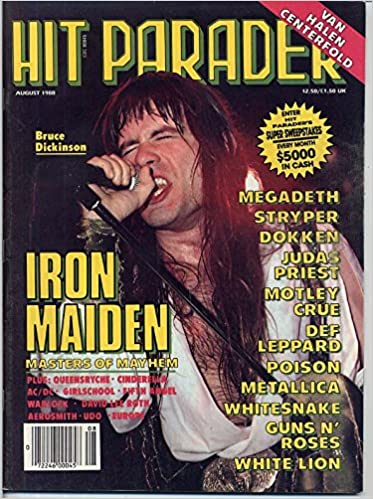Hit Parader Magazine IRON MAIDEN Bruce Dickinson VAN HALEN Joey ...