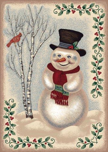 Snow Day Rug - Snowman (2'8