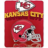 "Kansas City Chiefs NFL Light Weight Fleece Blanket (Grid Iron) (50x60"")"" at Amazon.com"