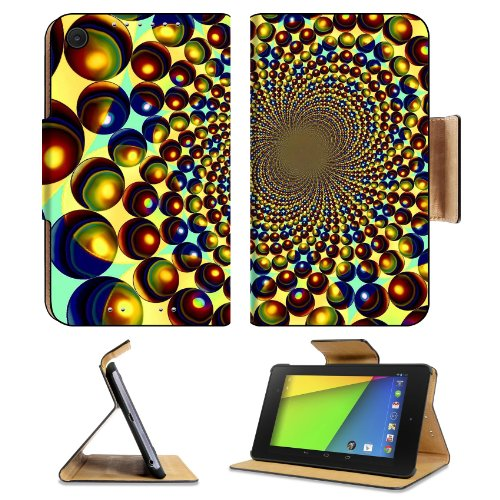 Globy Seeds Side Holes Orbs Asus Google Nexus 7 FHD II 2nd Generation Flip Case Stand Magnetic Cover Open Ports Customized Made to Order Support Ready Premium Deluxe Pu Leather 8 1/4 Inch (210mm) X 5 1/2 Inch (120mm) X 11/16 Inch (17mm) Luxlady Nexus