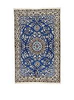 L'Eden del Tappeto Alfombra Nain Azul / Gris 182  x  115 cm