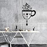 WALPLUS(TM) Interior Design Decor Wall Clock Stickers Mural Art Creative Coffee Mug
