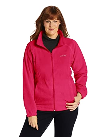 Columbia Women's Plus-Size Benton Springs Full Zip Plus, Bright Rose, 1X