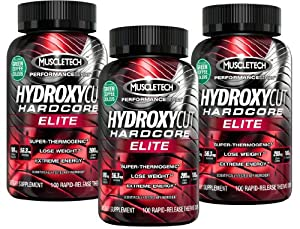Hydroxycut Hardcore Elite-Svetol Green Coffee Bean Extract Formula, 100ct, Pack Of Three